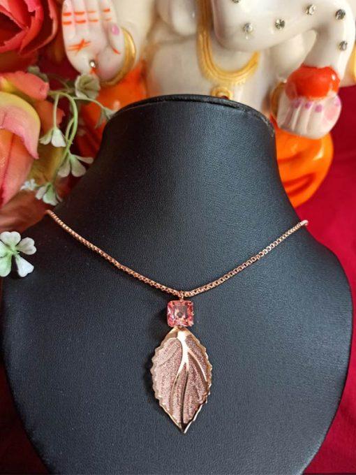 Trendilook Leaf Neckpiece For Ladies and Girls