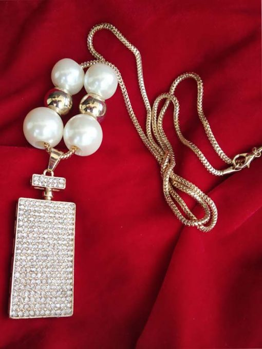 Trendilook Stone and Pearl Long NeckPiece