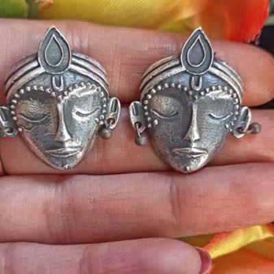 Trendilook German Silver Boho Style Stud Earring