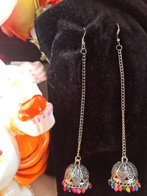 Trendilook German Silver Lumba Earring