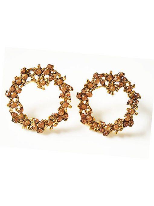 Trendilook Cute Stone Looped Earring
