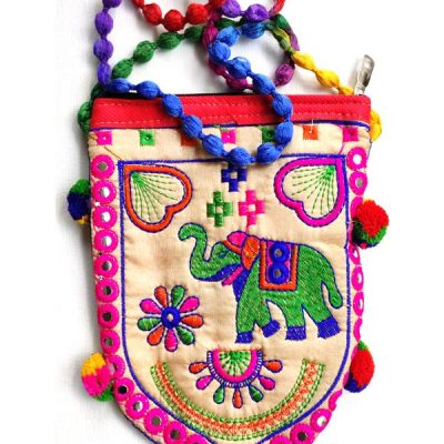 Trendilook Handmade Cream Elephant Sling Bag for Ladies and Girls
