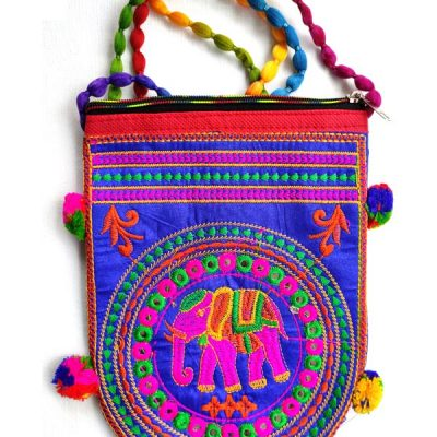 Trendilook Handmade Blue Elephant Sling Bag for Ladies and Girls
