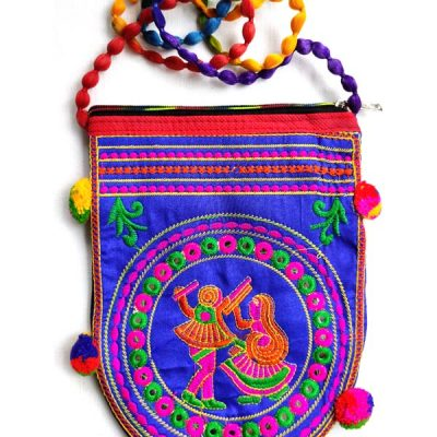 Trendilook Handmade Blue Dandiya Sling Bag for Ladies and Girls