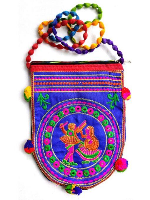 Trendilook Handmade Blue Dandiya Sling Bag for Ladies and Girls