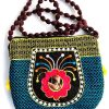Trendilook Handmade Blue Small Mirror Sling Bag for Ladies and Girls