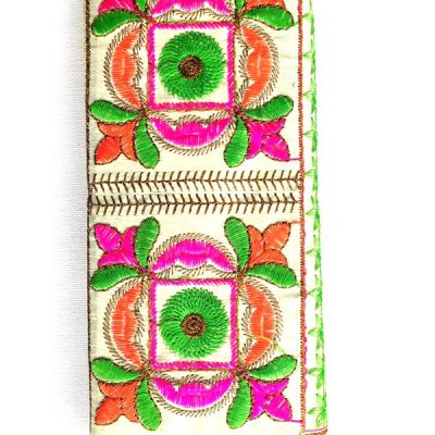 Trendilook Handmade Valvet Resham Flower Hand Wallet for Ladies and Girls