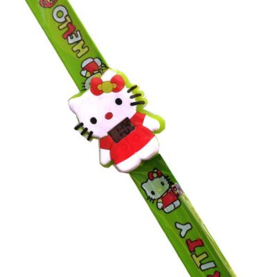 Trendilook Hello Kitty Silicone Slap Band Digital Watch for Kids