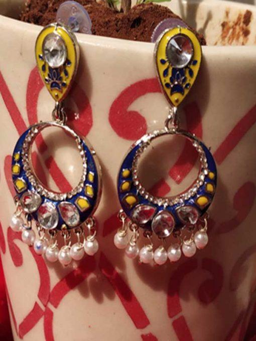 Trendilook Premium Quality Meenakari Looped Earring