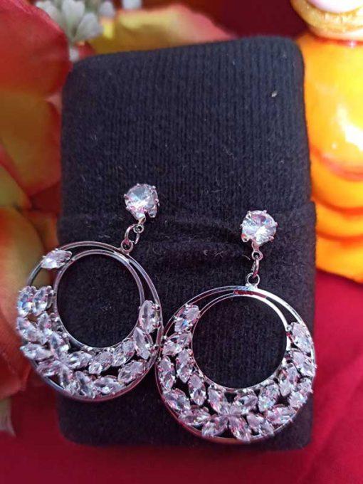 Trendilook Party Wear Looped Crystal Earring