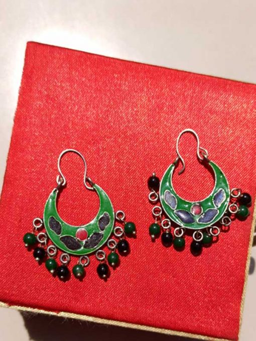 Trendilook Premium Quality Meenakari Looped Earring