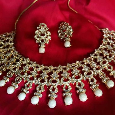 Trendilook Pearl Jewelry Set for Wedding and Party