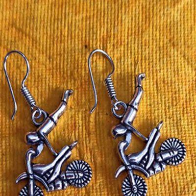 Trendilook German Silver Boho Style Stud Biker Earring