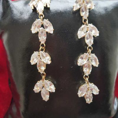 Trendilook Crystal Layered Long Party Wear Earring
