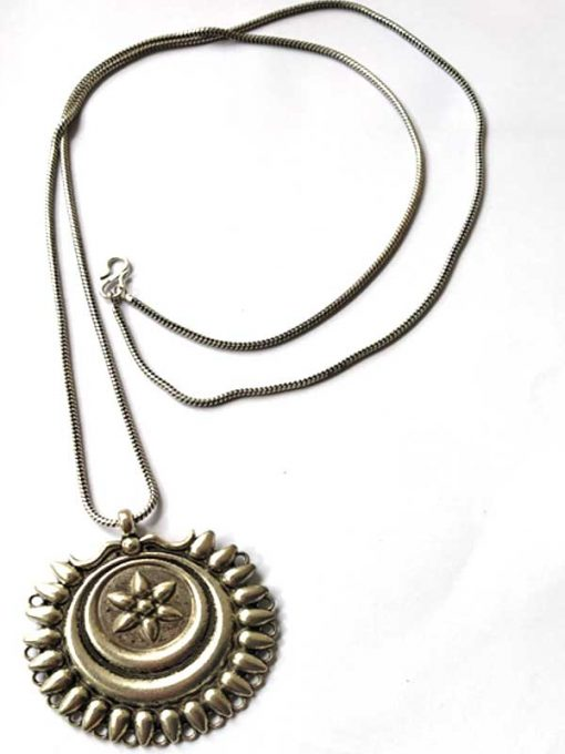 Trendilook German Silver Sunflower Neckpiece