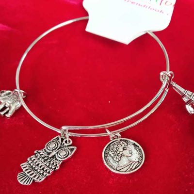 Trendilook Adjustable German Silver Stylish Bracelet