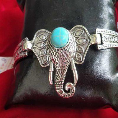 Trendilook Adjustable German Silver Gaja Bracelet