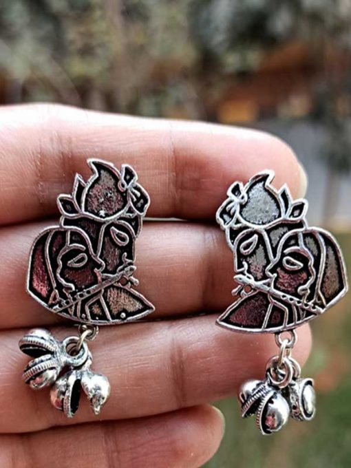 Trendilook Premium Quality Radha Krishana Earring