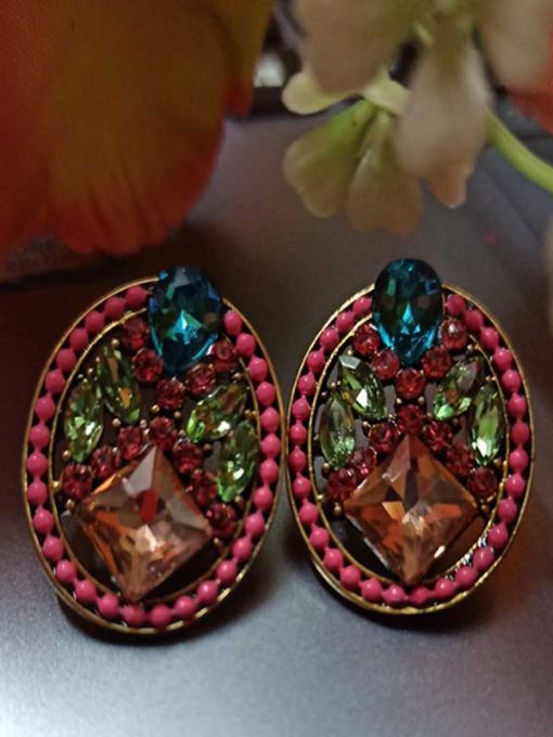 Trendilook Stylish Party Wear Stone Earring