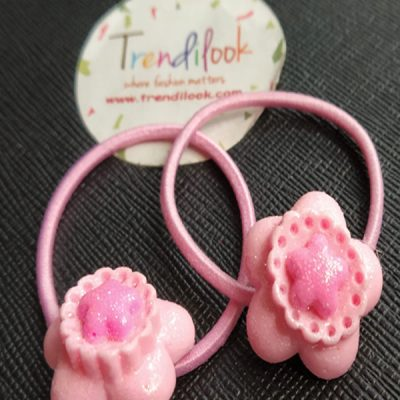 Trendilook Flower Rubberband one Pair