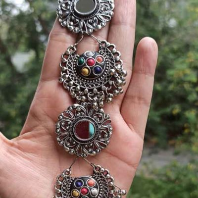 Trendilook German Silver Layered Earring
