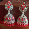 Trendilook Gold Plated Red Kundan Jhumki
