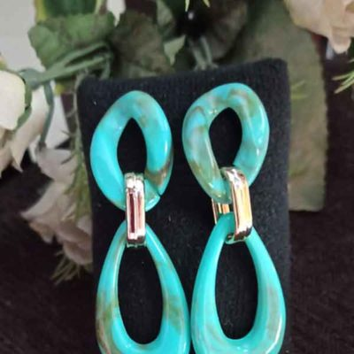 Trendilook Party Wear Green Layered Earring