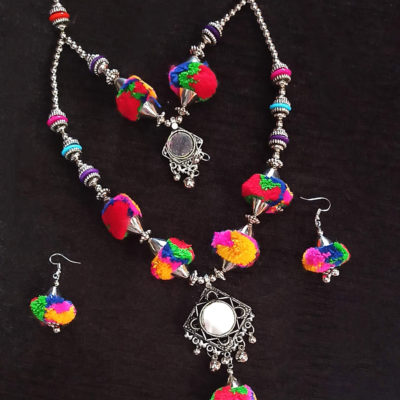 Trendilook Pom Pom Necklace Set