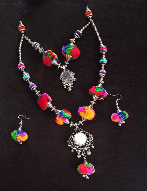 Trendilook Pom Pom Necklace Set