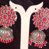 Trendilook Wedding Wear German Silver Kundan Jhumki