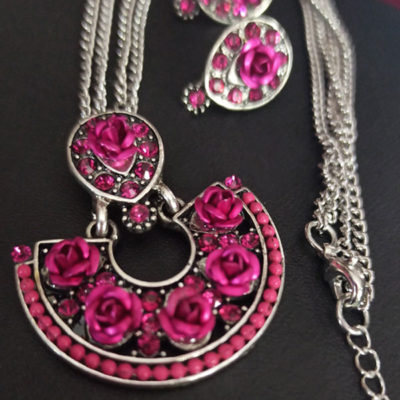 Trendilook Party Wear Rose Necklace Set
