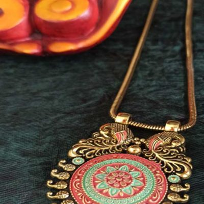 Trendilook German Gold Meenakari Bahubali Premium Quality Necklace